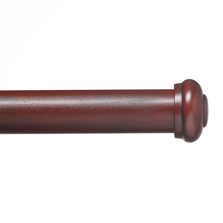 end cap double rod set 2 diameter. Black Bedroom Furniture Sets. Home Design Ideas