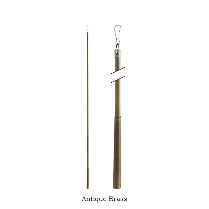"36"" Drapery Pull Rod~Metal Baton Fling Wand~Each"