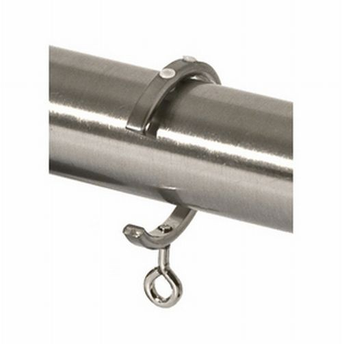 Steel Bypass Traverse Curtain Rod C Ring For 1 1 8