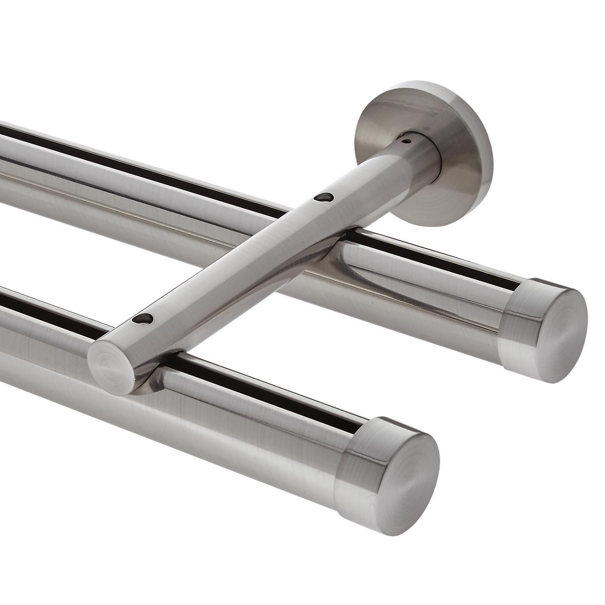 6' Aria Metal H-Rail Double Traverse Rod Kit~1 3/8