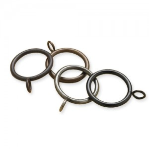 "Eyelet Curtain Ring for 1"" Metal Drapery Rods ~ Pack of 10"