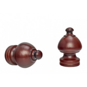 """Sherwood Curtain Rod Finials for 1 3/8"""" Drapery Rods~Pair"""