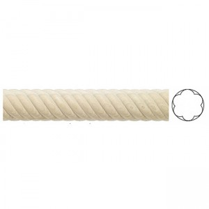"1 3/8"" Twisted Wooden Drapery Curtain Rod"