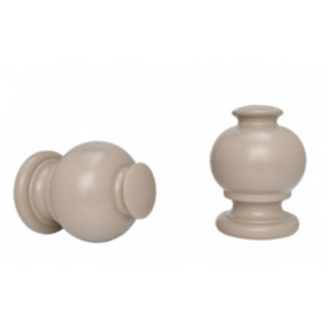 """Button Ball Curtain Rod Finial for 1 3/8"""" Drapery Rods~Pair"""