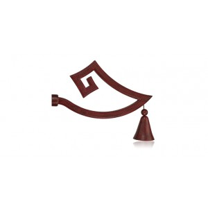 Jackie Von Tobel Pagoda Curtain Rod Finial~Each