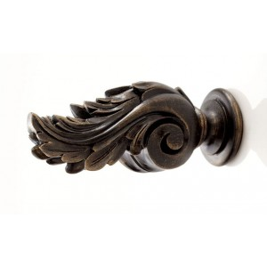 Kirsch Buckingham Icarus Finial ~ Pair