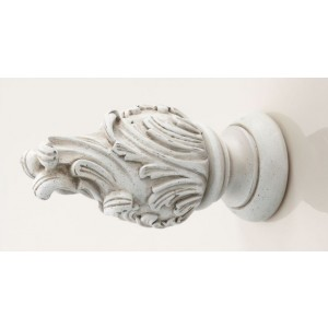Kirsch Buckingham Wave Finial ~ Pair