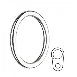 """Curtain Ring with Clip for 3/4"""" Curtain Rods~Each"""