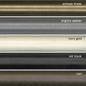 "98"" Iron Curtain Rod~3/4"" Diameter"