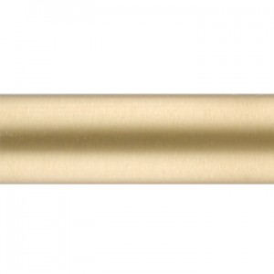 "Brushed Brass Curtain Rod Tubing~1 1/8"" Diameter"