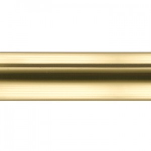 "Polished Brass Curtain Rod Tubing~1 1/8"" Diameter (by the foot)"