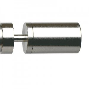 "Steel Rollenbild Curtain Rod Finial for 1 3/16"" Rod Diameter"