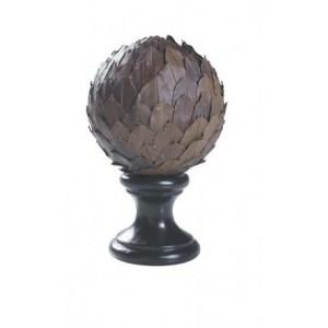 Leaf Ball Dark Finial