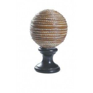 Twisted Fiber Ball Finial