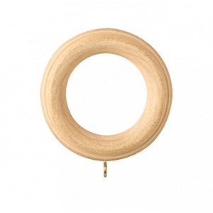 "Ribbed Wood Ring for 2 1/4"" Curtain Rod~Each"