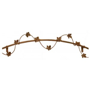 Curved & Wrapped with Grapevine Leaves Curtain Rod (by the foot)
