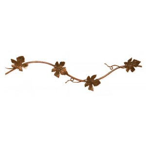 "Grapevine Curved Curtain Rod~1/4"" Diameter (by the foot)"