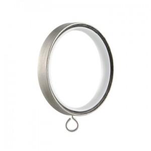 """Vesta Flat Ring w/eye & insert for 1 1/8"""" Rod~ Each"""