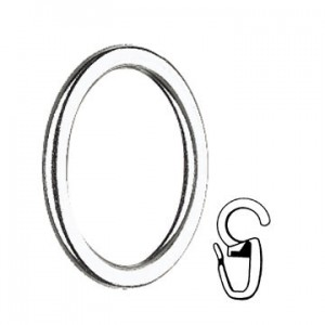 "Curtain Ring with Clip for 1 1/8"" Curtain Rods~Each"