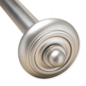 """Sausalito Adjustable Single Curtain Rod Set ~ 1"""" Diameter"""