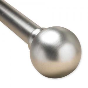 "Ballcap Adjustable Single Curtain Rod Set ~ 1"" Diameter"