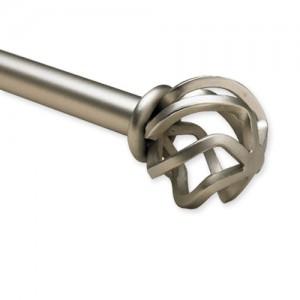 "Round Flame Adjustable Double Curtain Rod Set ~ 1"" Diameter"