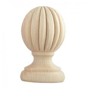 """Cinca Finial for 1 3/4"""" Wooden Curtain Rod~Each"""