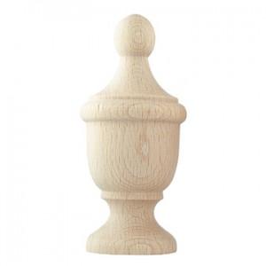 "Yakima Finial for 1 3/4"" Wooden Curtain Rod~Each"