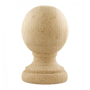 "Naches Finial for 1 3/8"" Wooden Curtain Rods~Each"