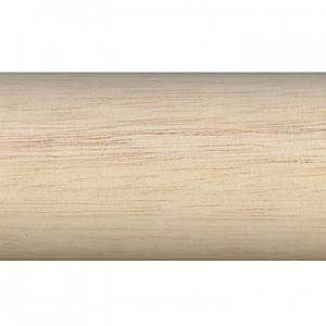 "12' Smooth Wood Curtain Rod~1 3/8"" Diameter"