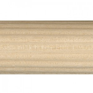 "4' Reeded Wood Curtain Rod~1 3/8"" Diameter"