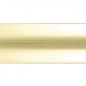 "10' Brass Curtain Rod Tubing~1 3/8"" Diameter"