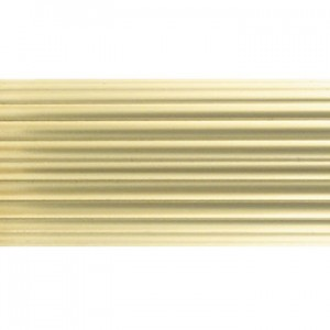 "6' Brass Reeded Curtain Rod Tubing~1 3/8"" Diameter"