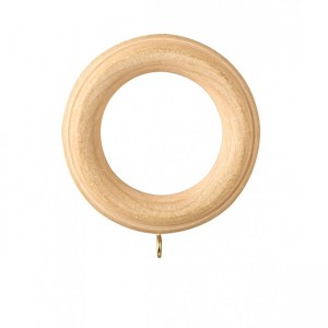 "Fluted Wood Curtain Ring for 1 3/8"" Drapery Rods~Each"