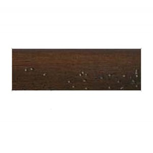 "6' Chocolate Wood Curtain Rod~2"" Rod Diameter"