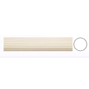 "Reeded Wood Curtain Rod~3"" Diameter"