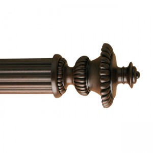 "3RF86 Finial for 3"" Curtain Rod~Each"