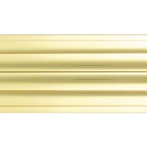 "12' Solid Brass Reeded Curtain Rod~1 9/16"" Diameter"