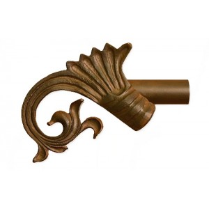 419 Curtain Rod Finial~Each