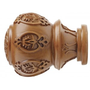 "Kirsch 2"" Wood Trends Lacey Finial~Each"