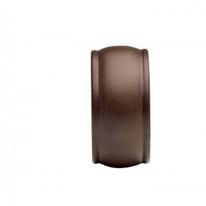 """Kirsch Wood Trends End Cap Finial for 2"""" Curtain Rods~Pair"""