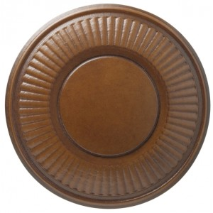 "Kirsch Walnut Holdback-4 1/2"" Diameter~Pair"