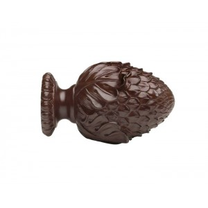 "Kirsch 3"" Wood Trends Oakleaf Cone Finial~Pair"