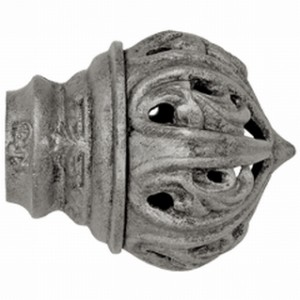 "Crown Palace Finial with Plug for 1"" Curtain Rod~Pair"