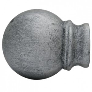 "Petite Modern Ball Finial with Plug for 1"" Curtain Rod~Pair"