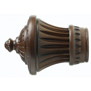 "Kirsch 3"" Wood Trends Charleston Finial~Pair"
