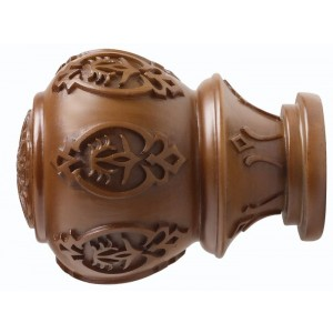 "Kirsch 3"" Wood Trends Lacey Finial~Pair"