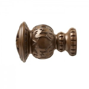 "Kirsch 3"" Wood Trends Reign Finial~Pair"