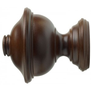 "Kirsch 3"" Wood Trends Chaucer Finial~Pair"