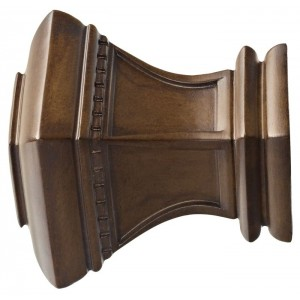 "Kirsch 3"" Wood Trends Bristol Finial~Pair"